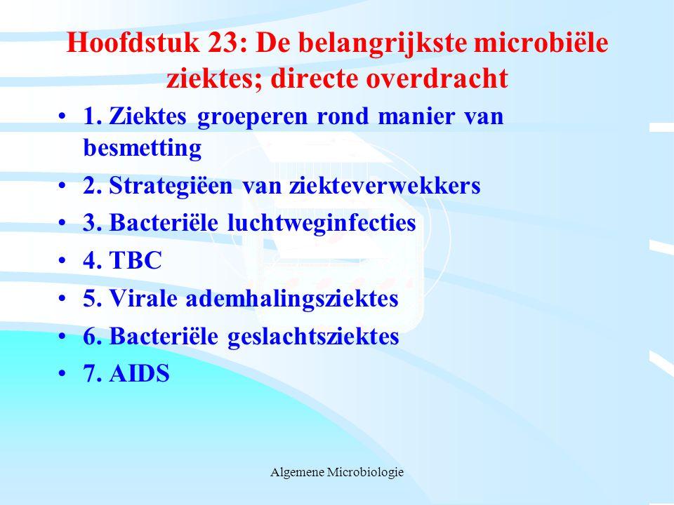 Hoofdstuk 23: De belangrijkste microbiële ziektes; directe overdracht