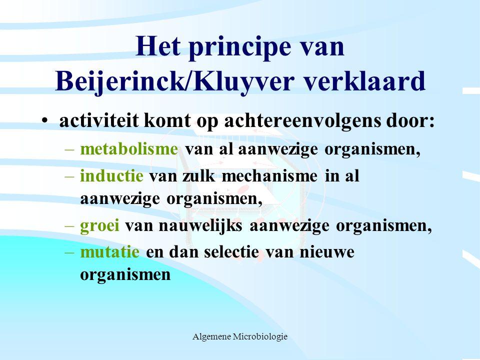 Het principe van Beijerinck/Kluyver verklaard