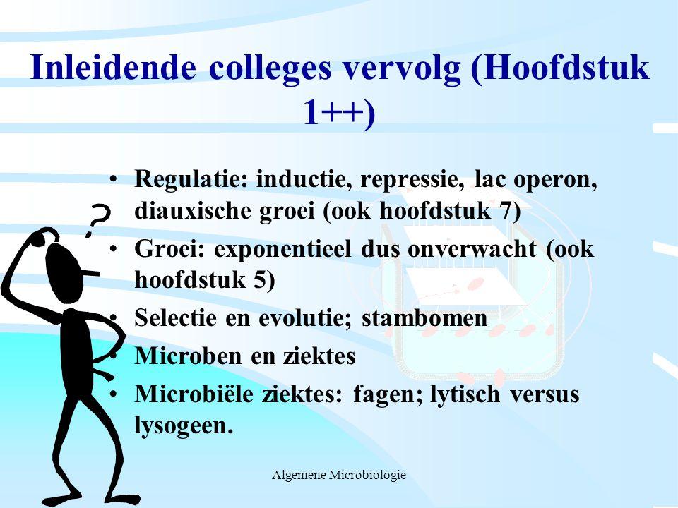Inleidende colleges vervolg (Hoofdstuk 1++)