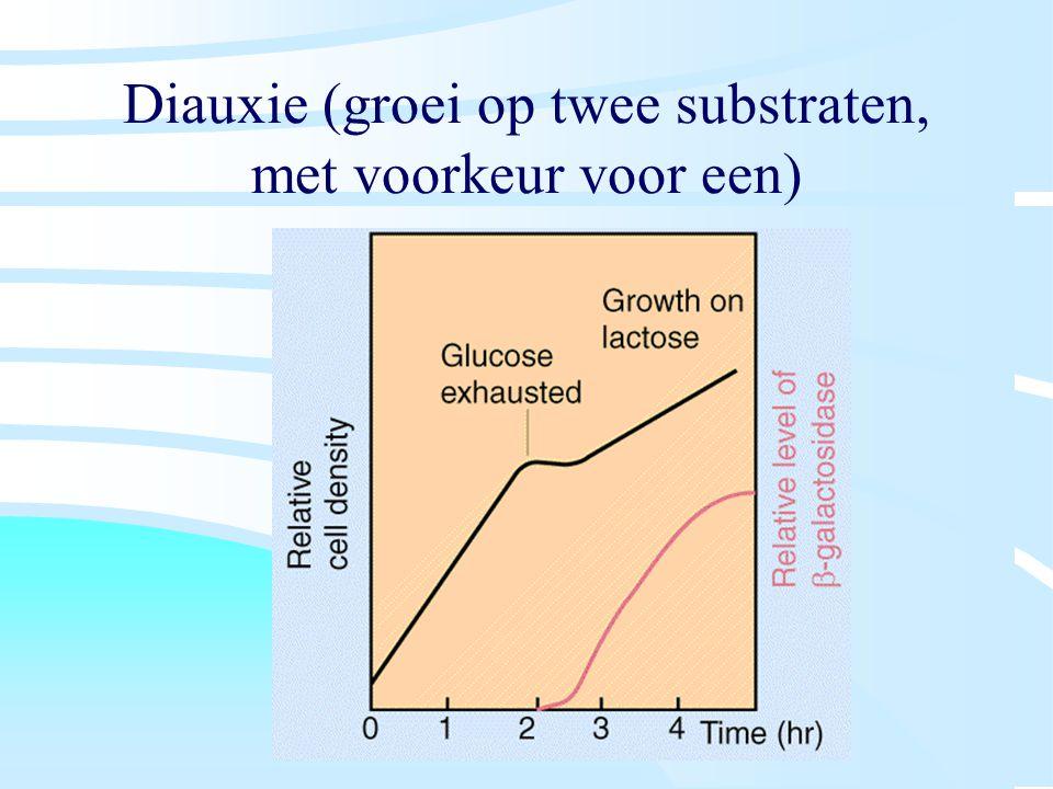Diauxie (groei op twee substraten, met voorkeur voor een)