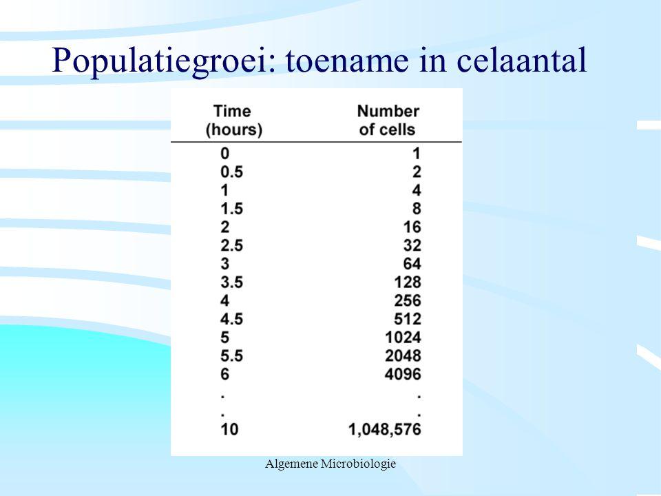 Populatiegroei: toename in celaantal