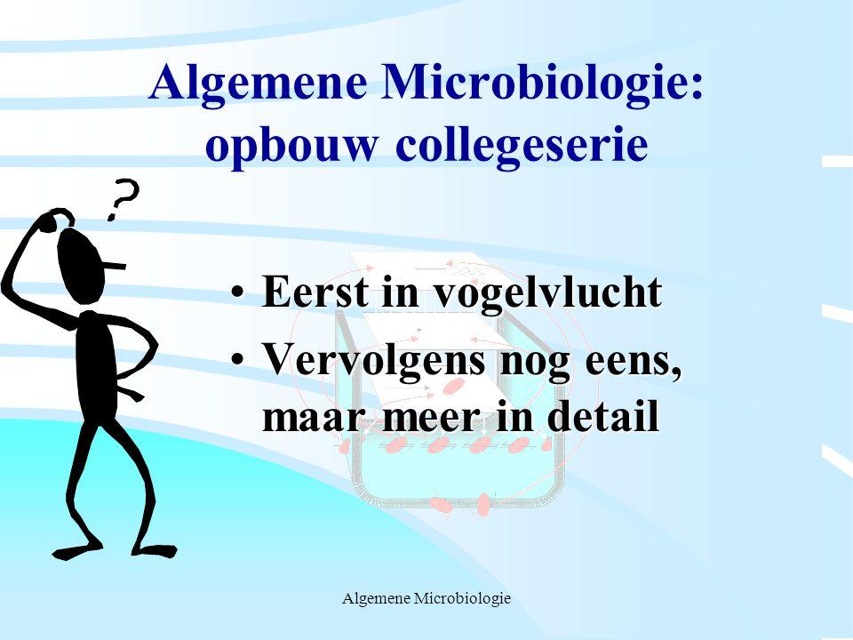 Algemene Microbiologie: opbouw collegeserie