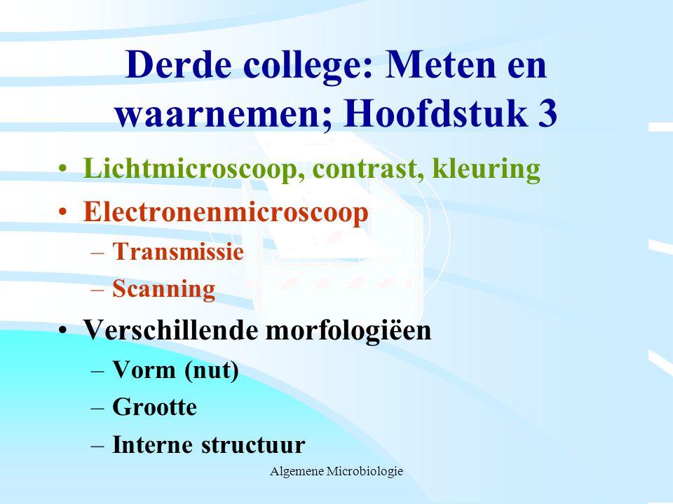 Derde college: Meten en waarnemen; Hoofdstuk 3