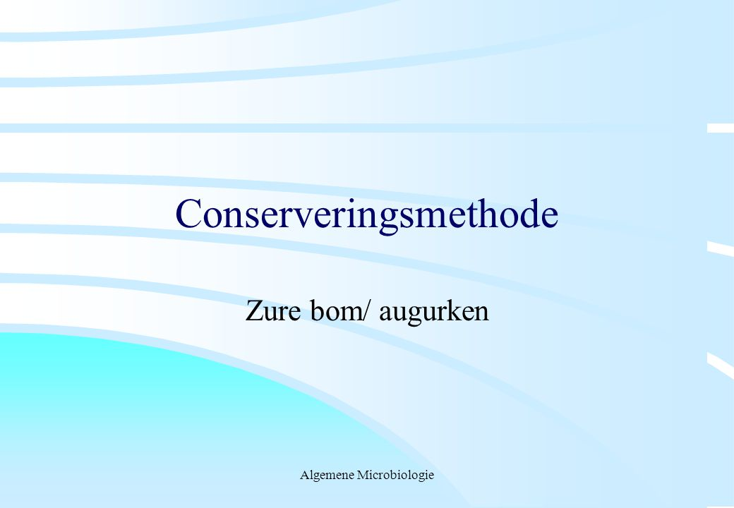 Conserveringsmethode