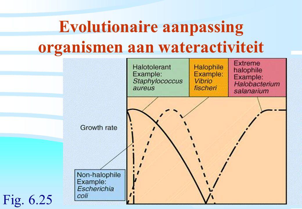 Evolutionaire aanpassing organismen aan wateractiviteit