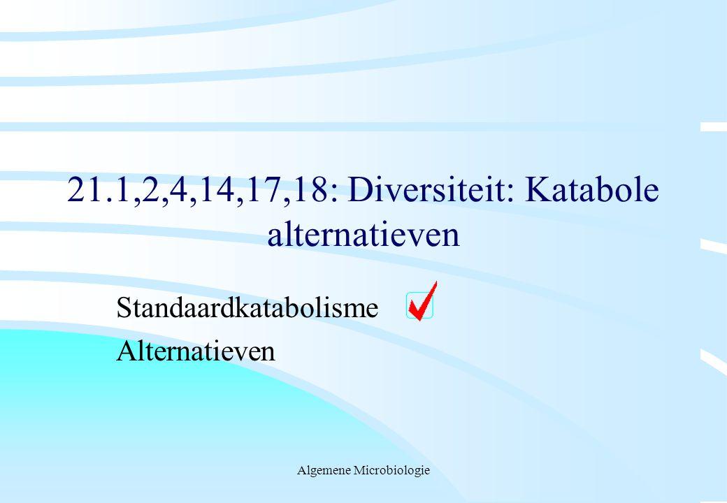 21.1,2,4,14,17,18: Diversiteit: Katabole alternatieven