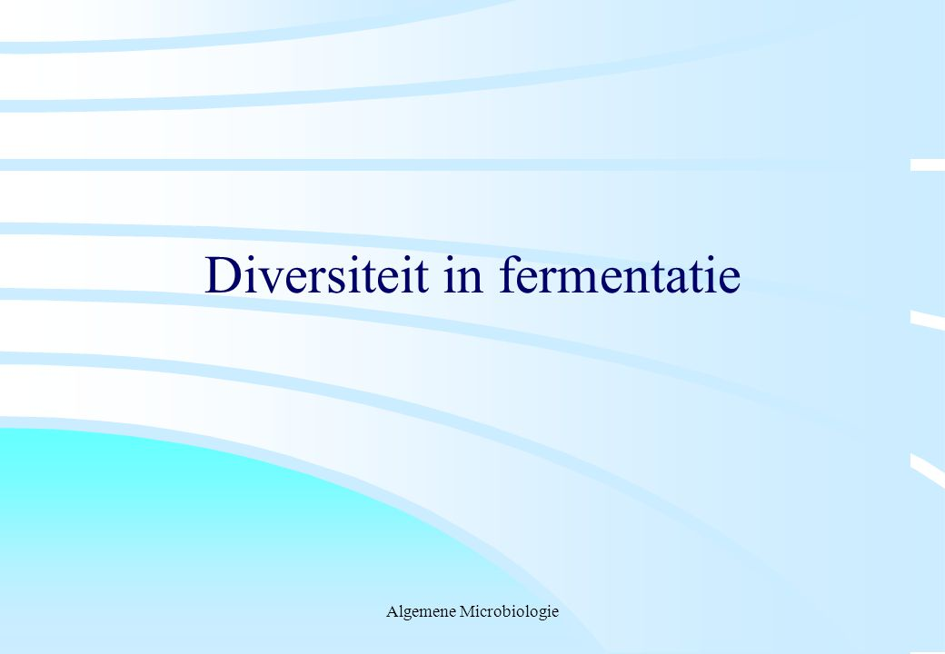 Diversiteit in fermentatie