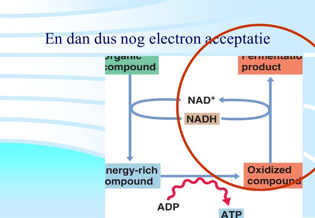 En dan dus nog electron acceptatie