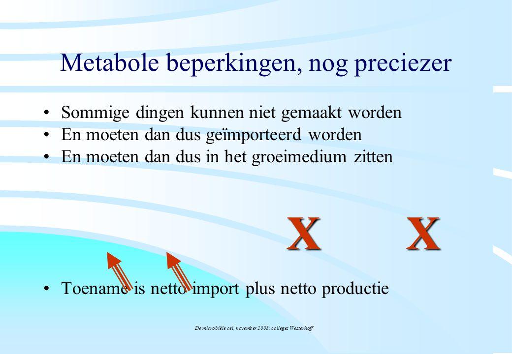 Metabole beperkingen, nog preciezer