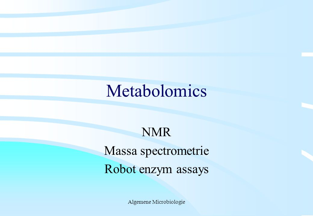 NMR Massa spectrometrie Robot enzym assays