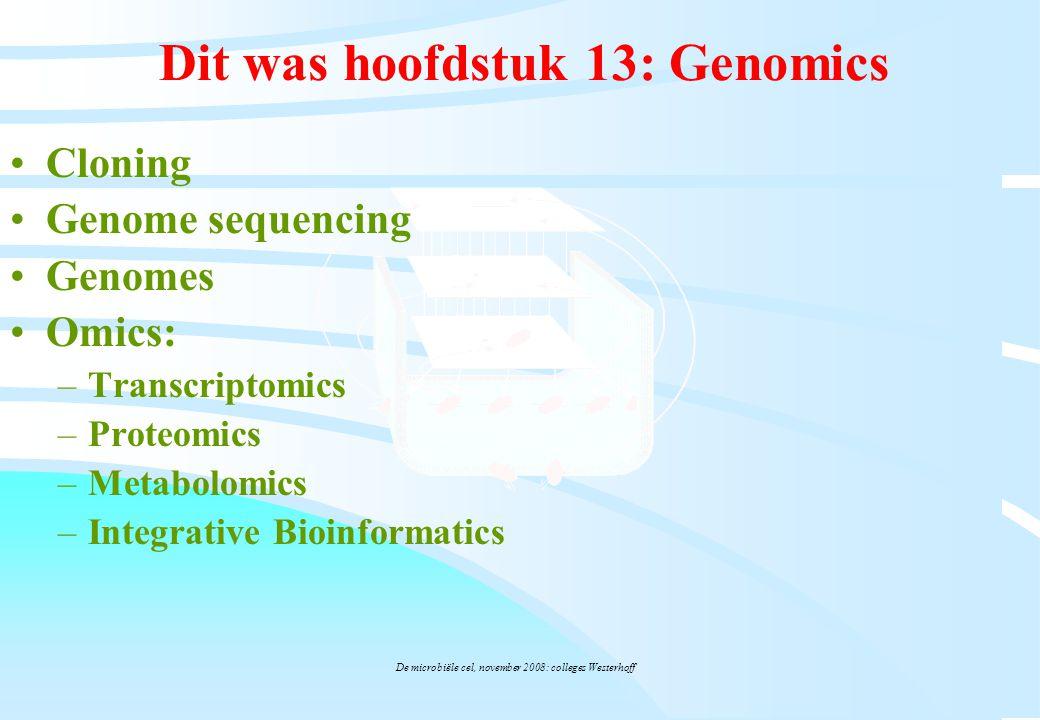 Dit was hoofdstuk 13: Genomics