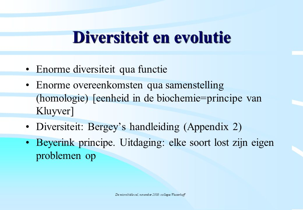 Diversiteit en evolutie