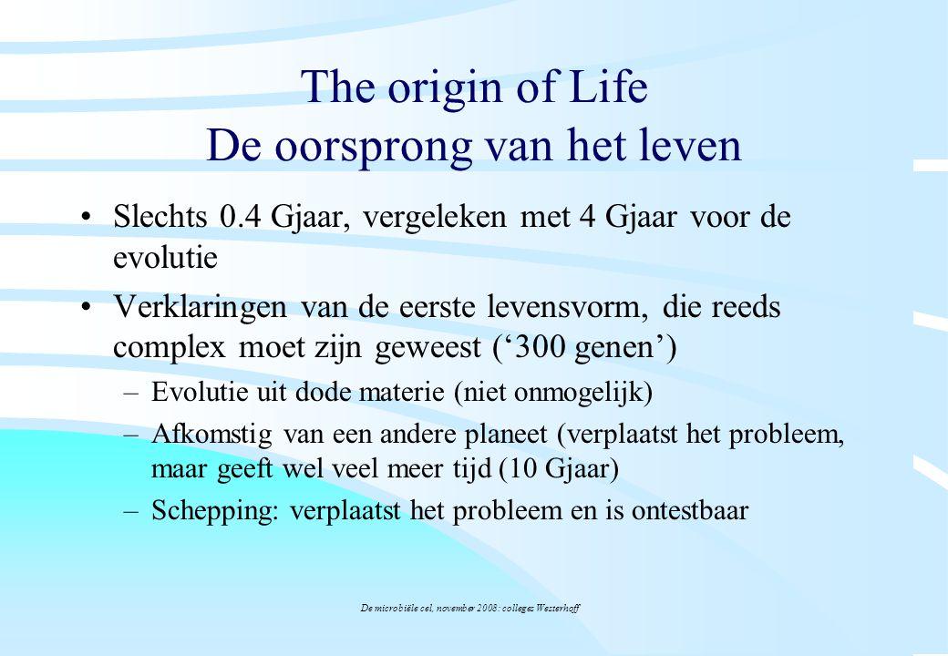 The origin of Life De oorsprong van het leven