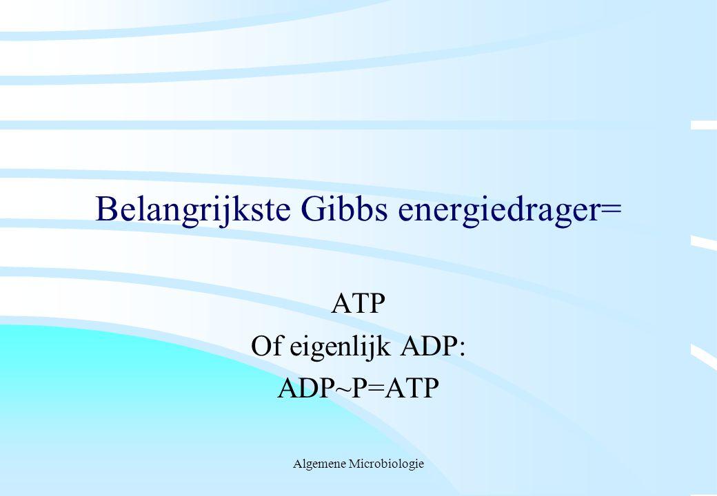 Belangrijkste Gibbs energiedrager=
