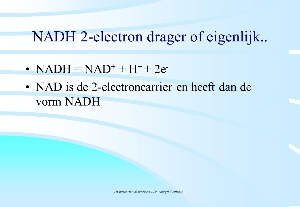 NADH 2-electron drager of eigenlijk..