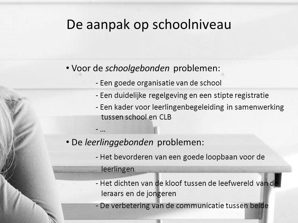 De aanpak op schoolniveau