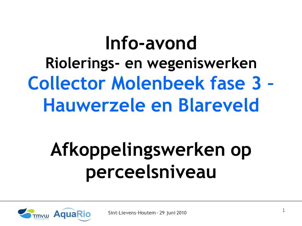 Collector Molenbeek fase 3 – Hauwerzele en Blareveld