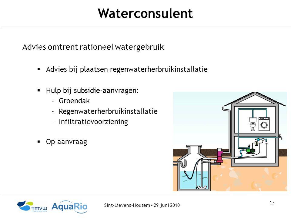 Waterconsulent Advies omtrent rationeel watergebruik