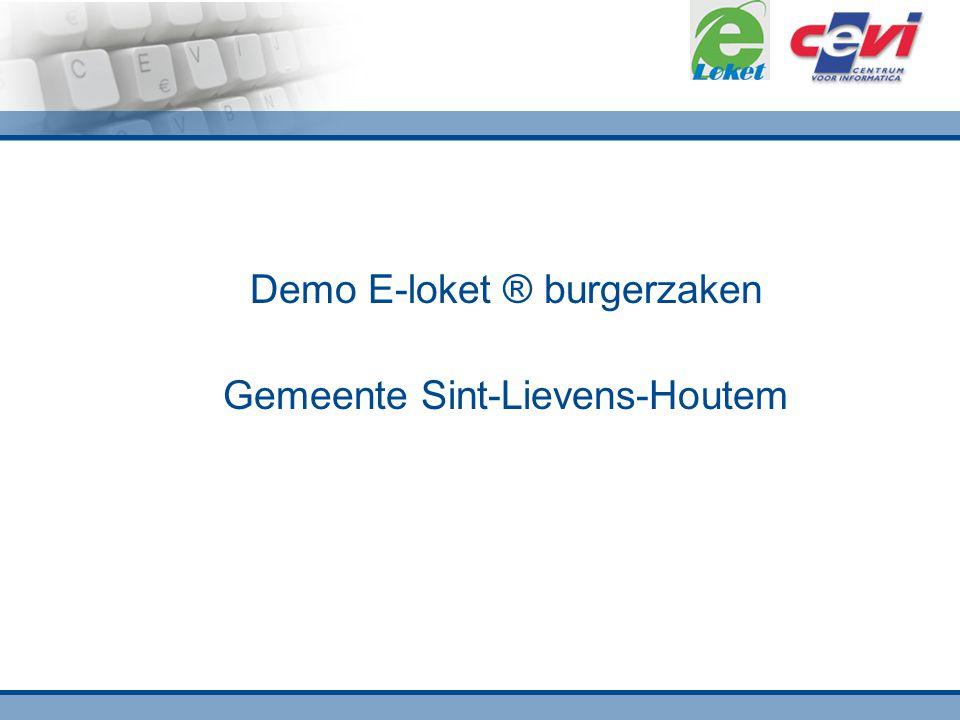 Demo E-loket ® burgerzaken