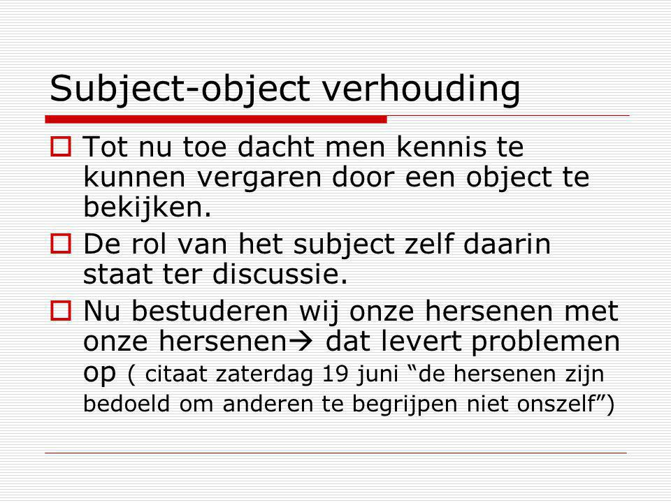Subject-object verhouding