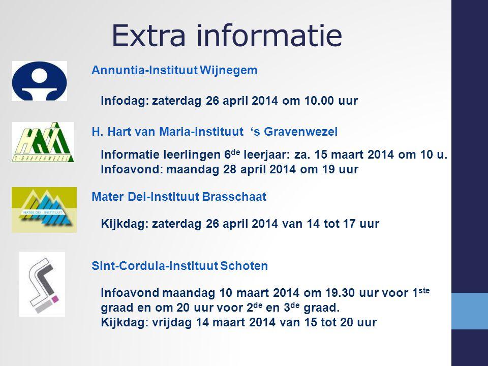 Extra informatie Annuntia-Instituut Wijnegem