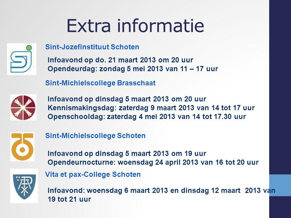 Extra informatie Sint-Jozefinstituut Schoten