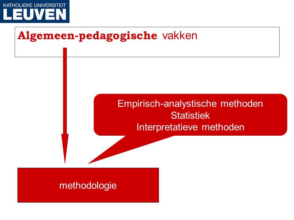 Algemeen-pedagogische vakken