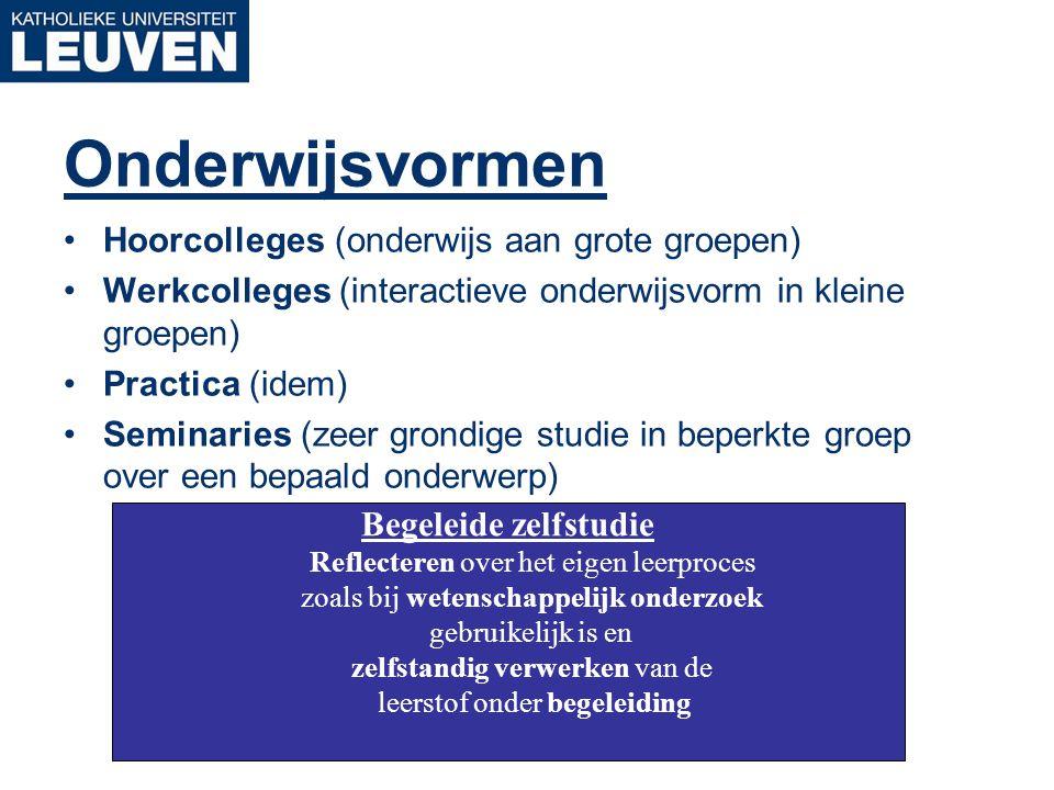 Onderwijsvormen Hoorcolleges (onderwijs aan grote groepen)