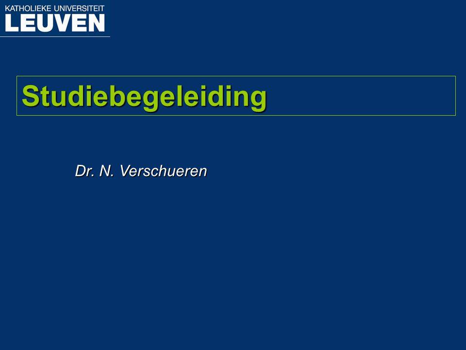 Studiebegeleiding Dr. N. Verschueren