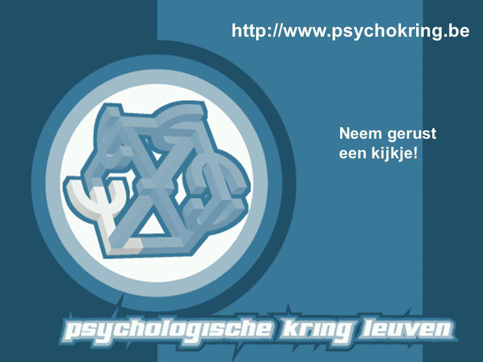 http://www.psychokring.be Neem gerust een kijkje!