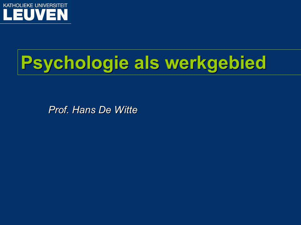 Psychologie als werkgebied