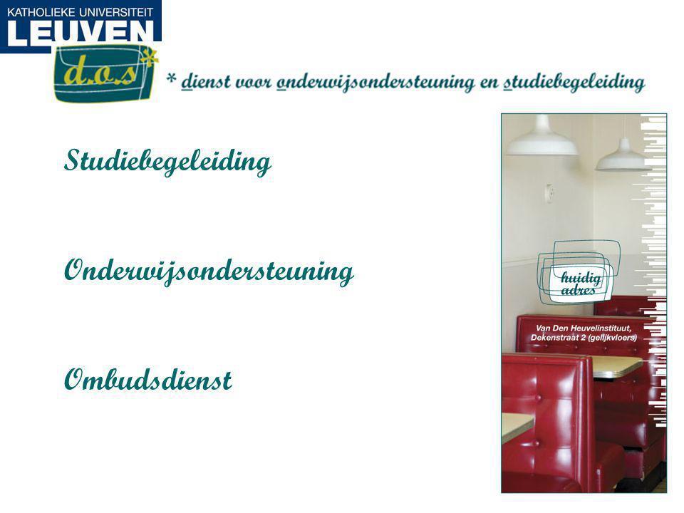 Studiebegeleiding Onderwijsondersteuning Ombudsdienst