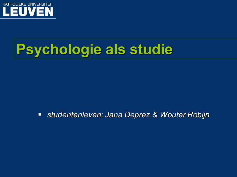 Psychologie als studie