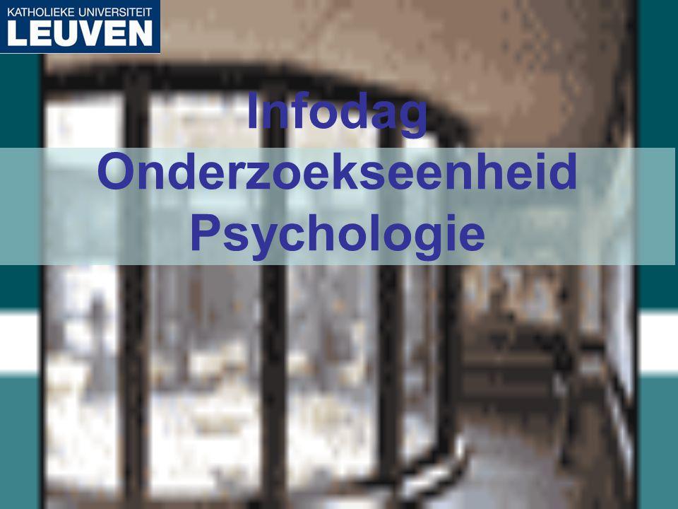Infodag Onderzoekseenheid Psychologie