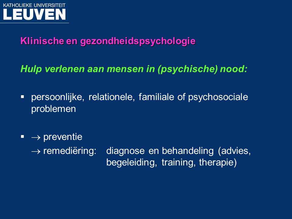 Klinische en gezondheidspsychologie