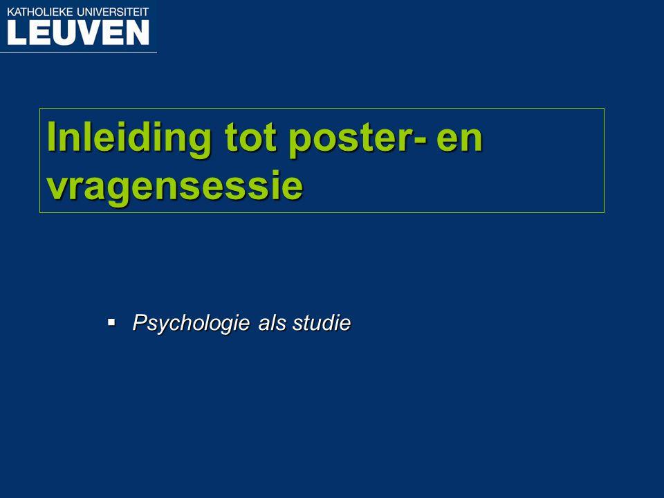Inleiding tot poster- en vragensessie