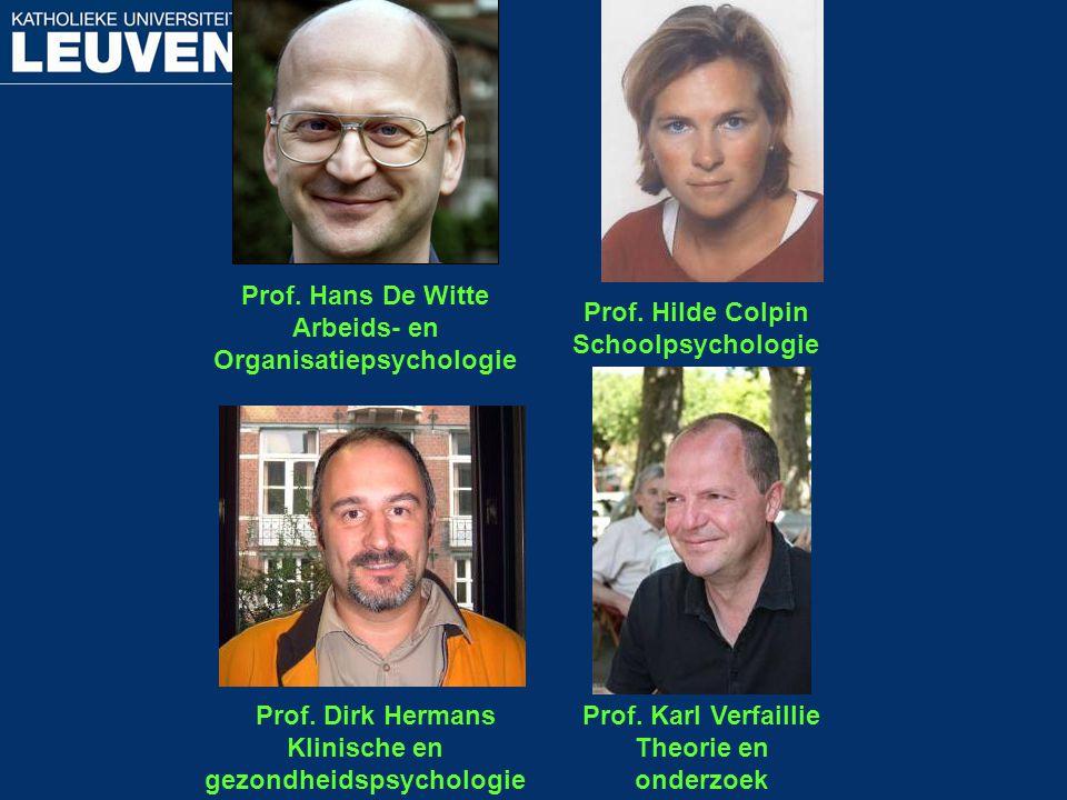 Organisatiepsychologie Klinische en gezondheidspsychologie