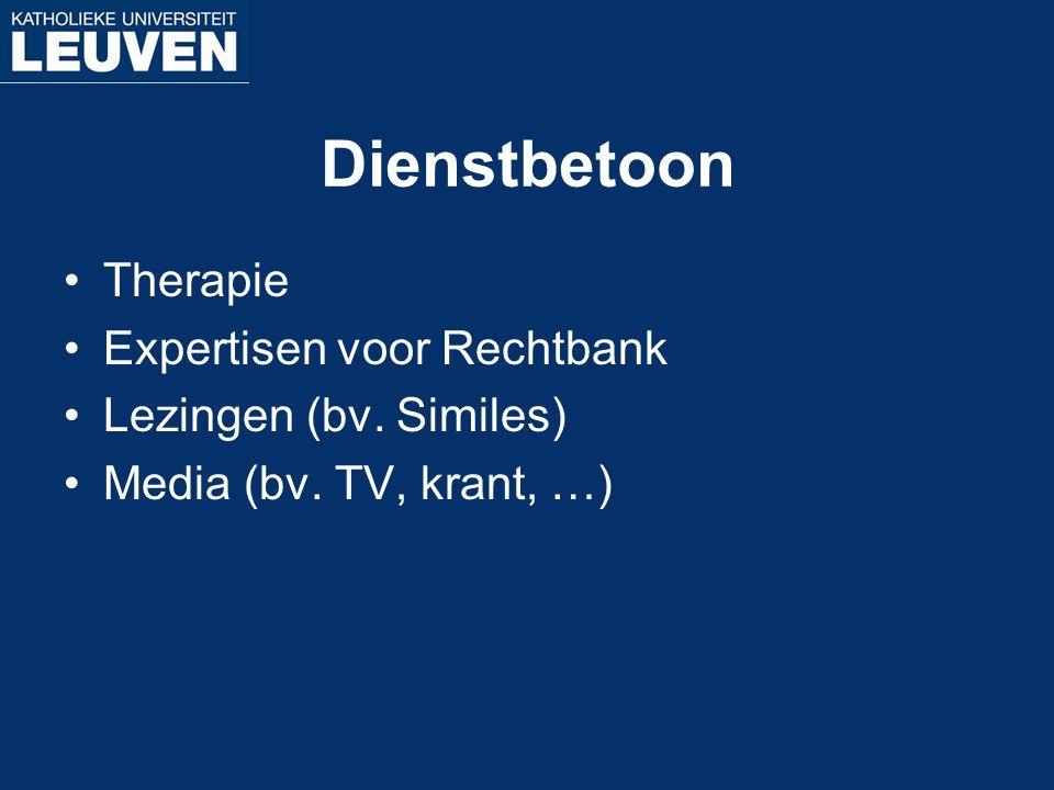 Dienstbetoon Therapie Expertisen voor Rechtbank Lezingen (bv. Similes)