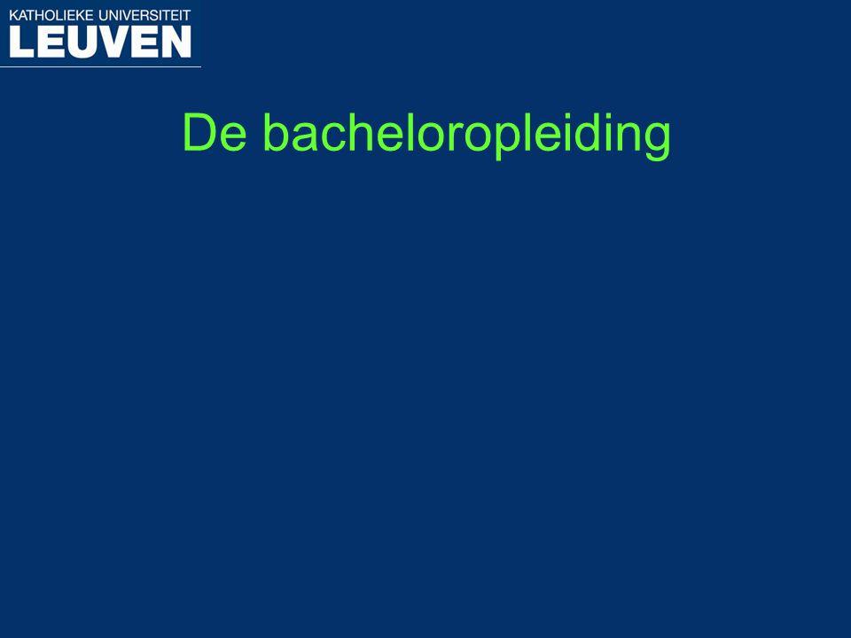 De bacheloropleiding