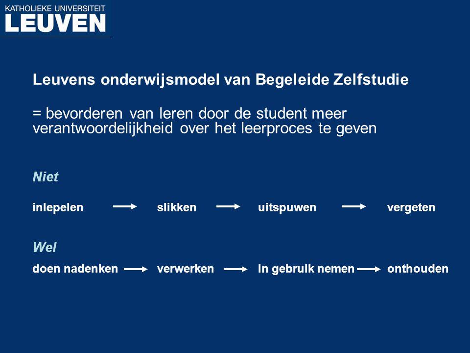 Leuvens onderwijsmodel van Begeleide Zelfstudie