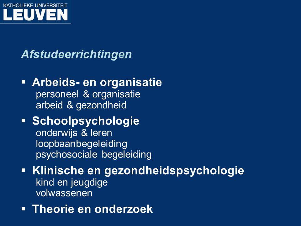 Arbeids- en organisatie