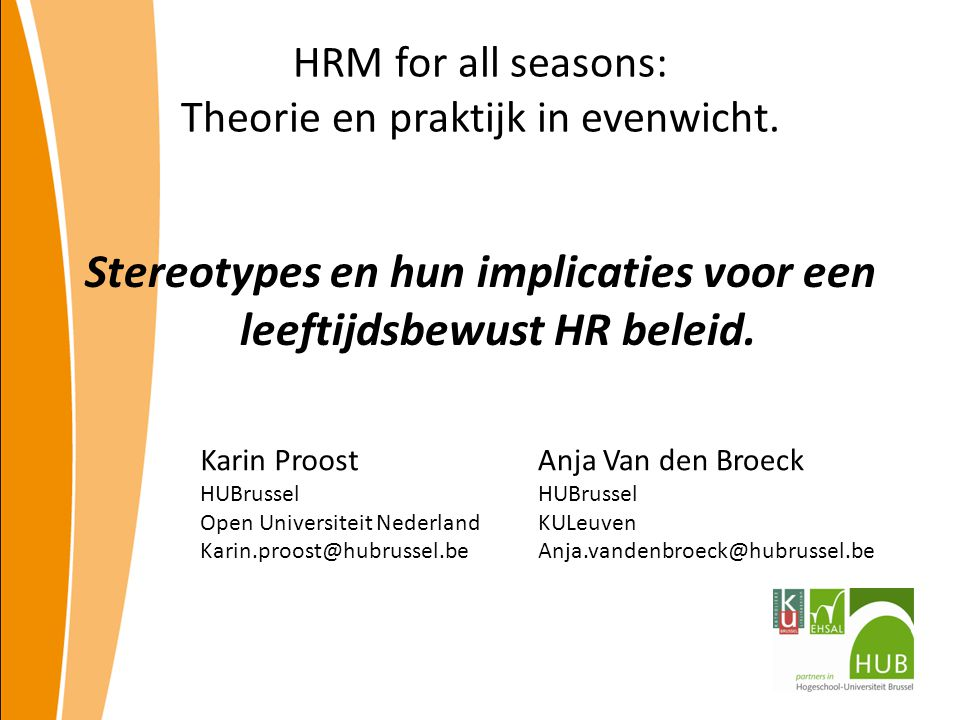 HRM for all seasons: Theorie en praktijk in evenwicht.