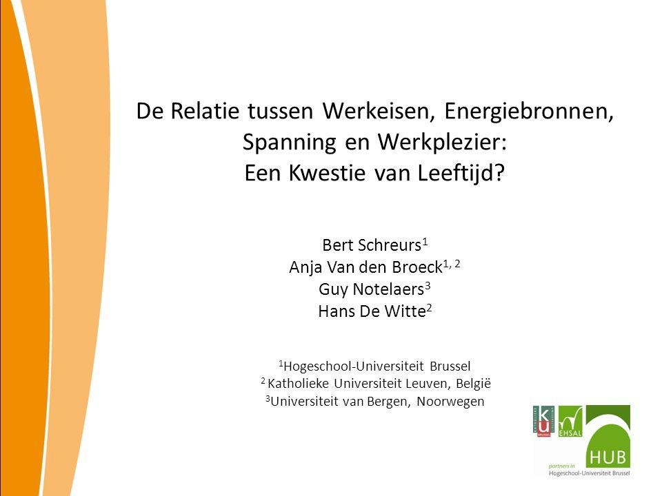 De Relatie tussen Werkeisen, Energiebronnen, Spanning en Werkplezier: Een Kwestie van Leeftijd.