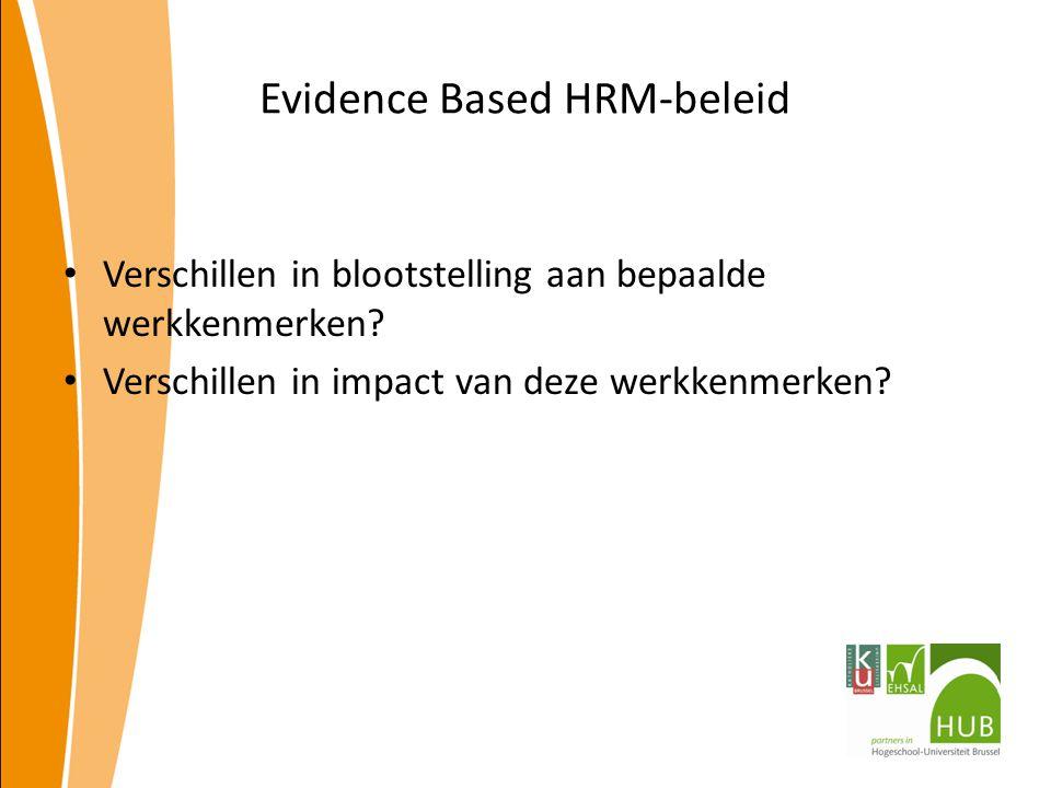 Evidence Based HRM-beleid