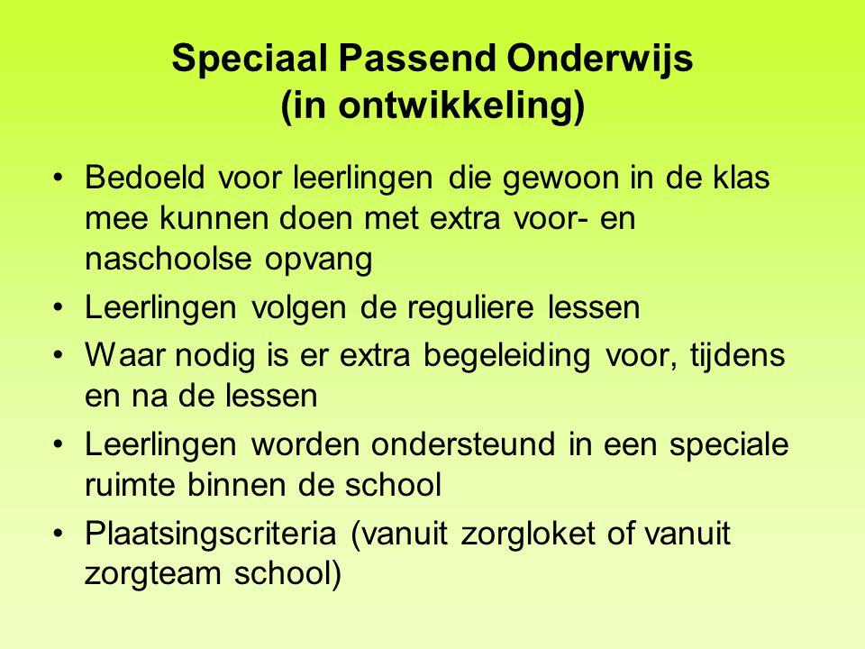 Speciaal Passend Onderwijs (in ontwikkeling)