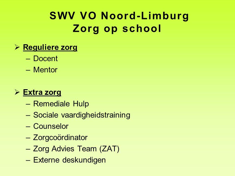 SWV VO Noord-Limburg Zorg op school