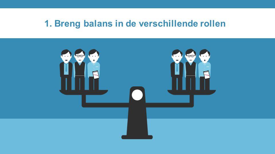 1. Breng balans in de verschillende rollen
