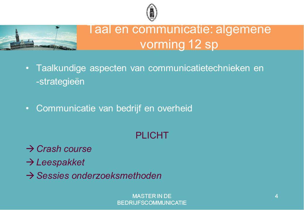 Taal en communicatie: algemene vorming 12 sp