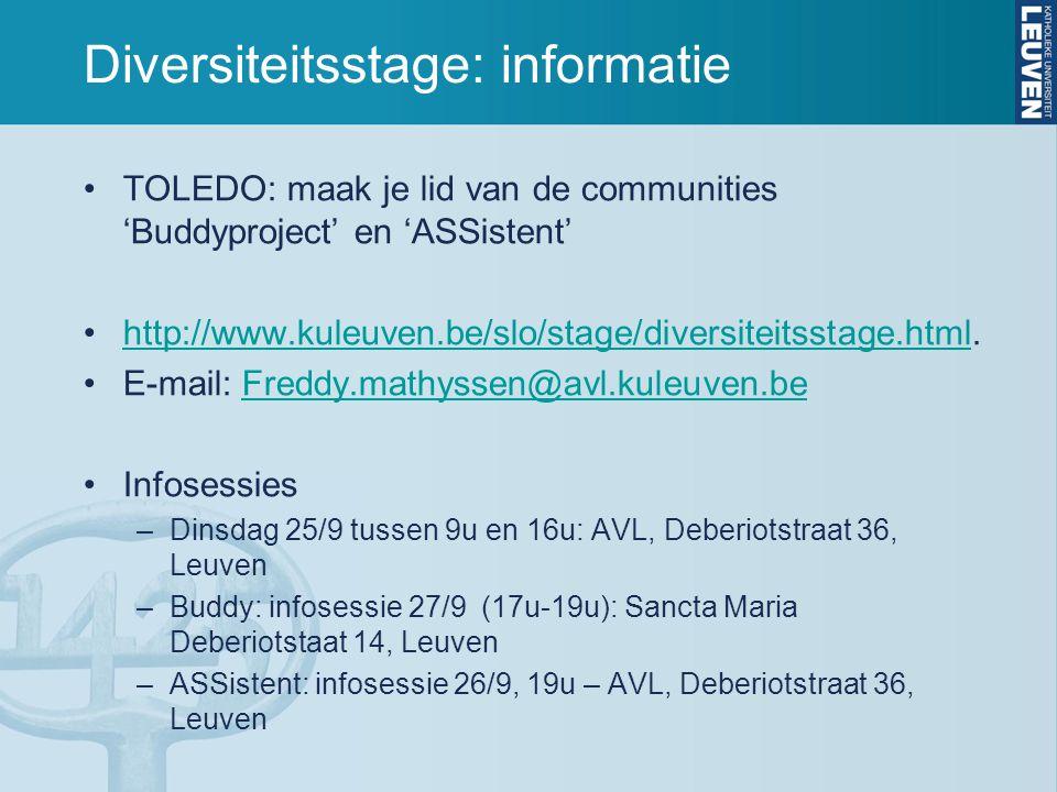 Diversiteitsstage: informatie