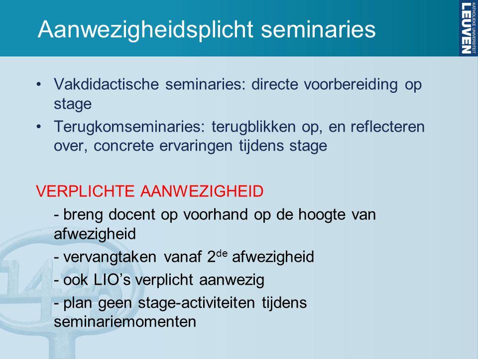 Aanwezigheidsplicht seminaries
